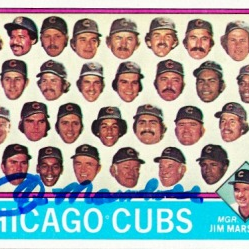 1976 Topps #277 Chicago Cubs CL/Jim Marshall MG- HAND AUTOGRAPHED