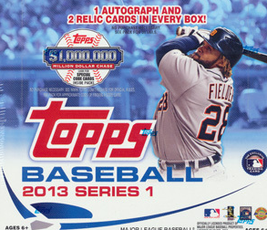 2013 Topps Baseball Series 1 HTA JUMBO Box
