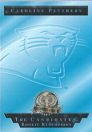 1996 CE President's Reserve Candidates Long Shots Redemptions #NNO Carolina Panthers