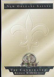 1996 CE President's Reserve Candidates Long Shots Redemptions #NNO New Orleans Saints