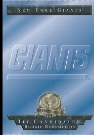 1996 CE President's Reserve Candidates Long Shots Redemptions #NNO New York Giants