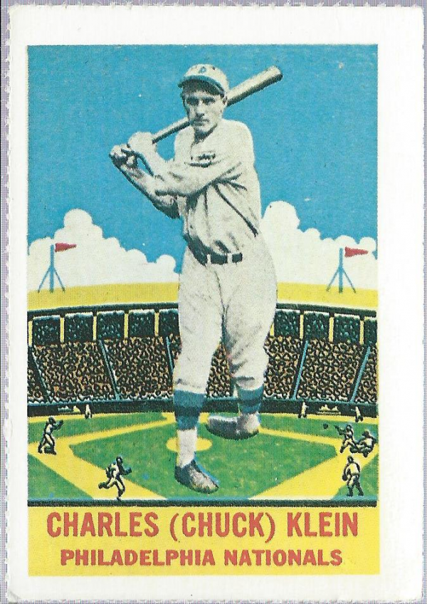 1933 Delong Reprints #22 Chuck Klein