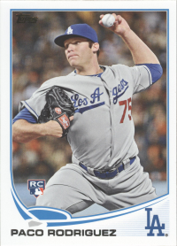 2013 Topps I MLB Dodgers Team Set (16 Cards)