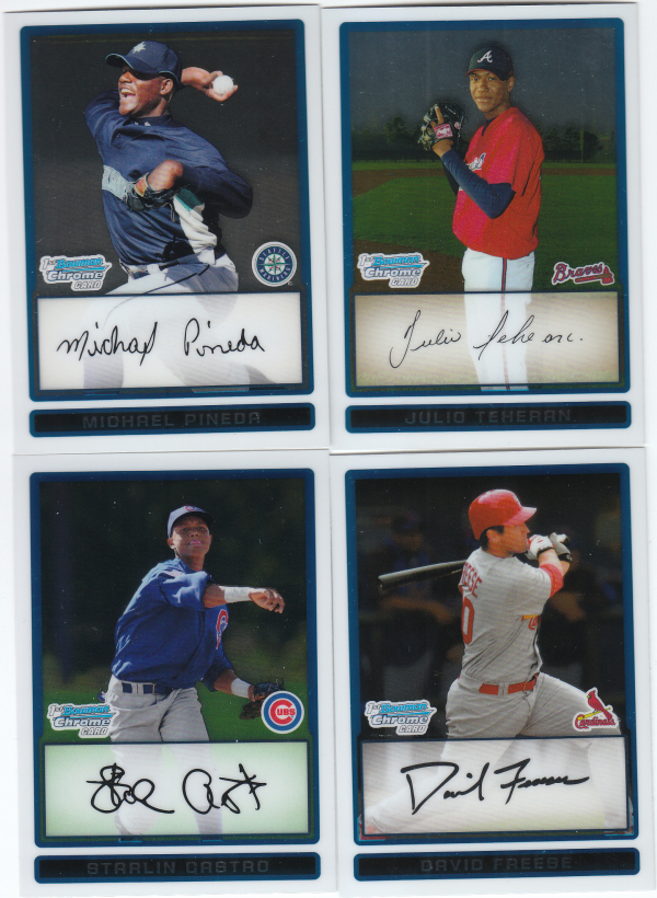 2009 Bowman Chrome Prospects Baseball Hand Collated Set - 160 Cards