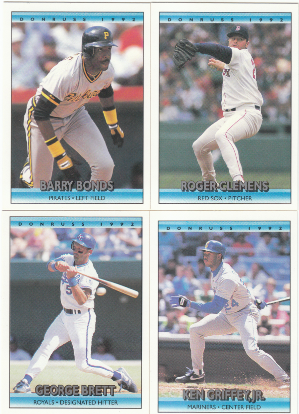 1992 Donruss Baseball Hand Collated Set - 784 Cards