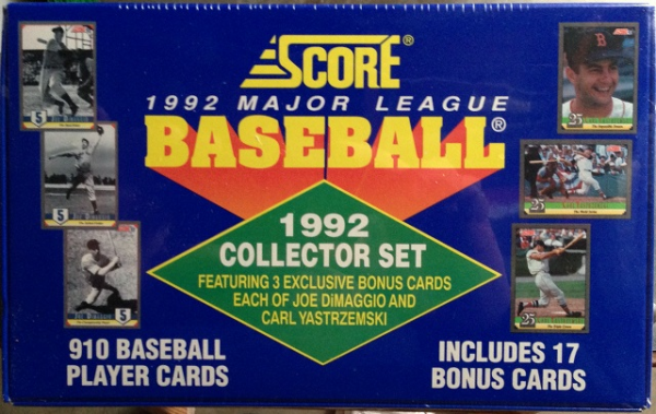 1992 Score Baseball Factory Set - 910 Cards