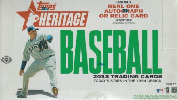 2013 Topps HERITAGE Baseball HOBBY Box