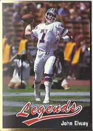 1990 Legends Sports #27 John Elway