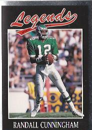 1991 Legends Sports #39 Randall Cunningham