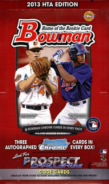 2013 Bowman Baseball HTA JUMBO Box