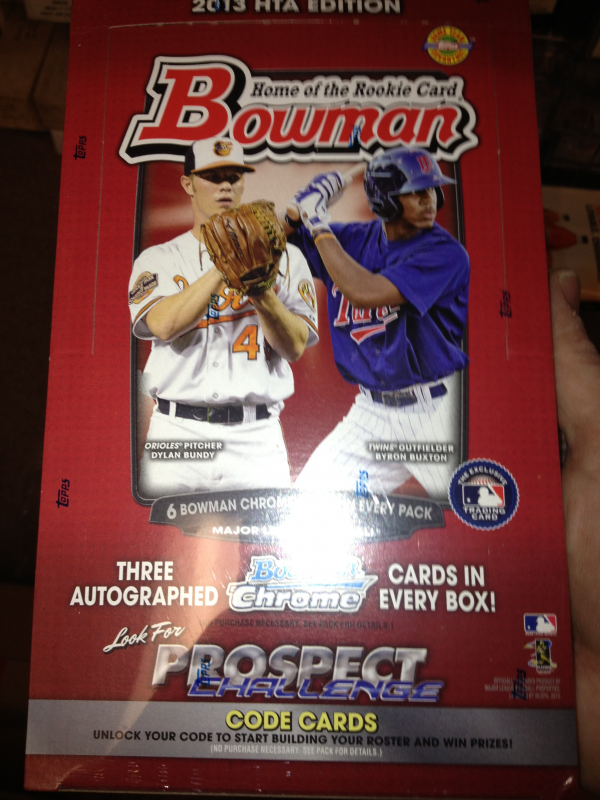 2013 Bowman Jumbo Hobby HTA Sealed New Box