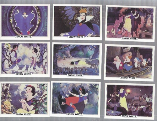 1982 Treat Hobby Disney Snow White Complete 18 card set