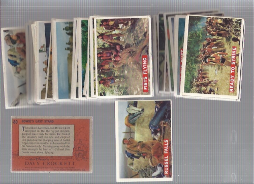 1956 Disney Davy Crockett Orange Back Complete 80 Card Set back image