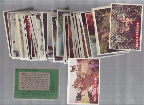 1956 Disney Davy Crockett Green Back Complete 80 Card Set back image