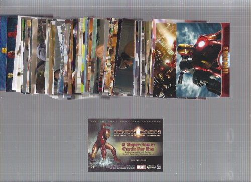 2008 and 2010 Iron Man Complete Sets 145 cards plus #P1 Promo from 2008 back image