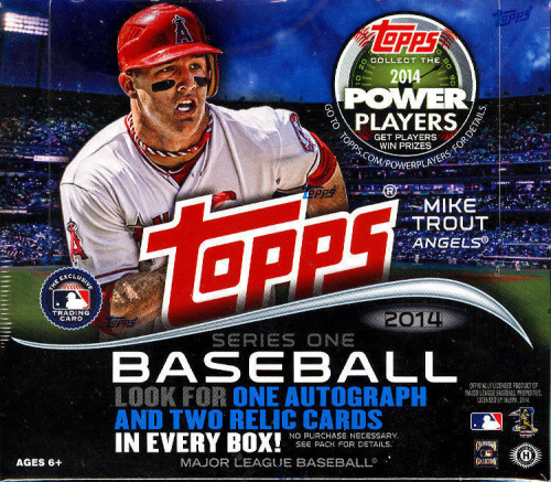2014 Topps Baseball Series 1 HTA JUMBO Box