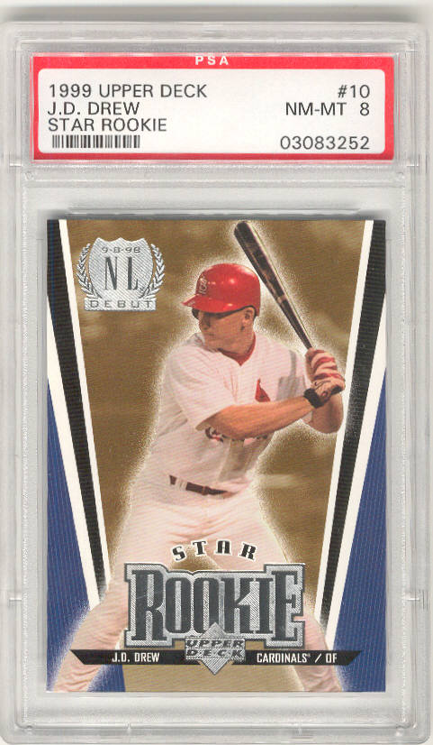 1999 Upper Deck #10 J.D. DREW PSA-8 NM-MT St Louis Cardinals PSA