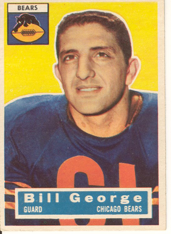 Bill George , 1956 Topps #47, Near Mint, $30.00
