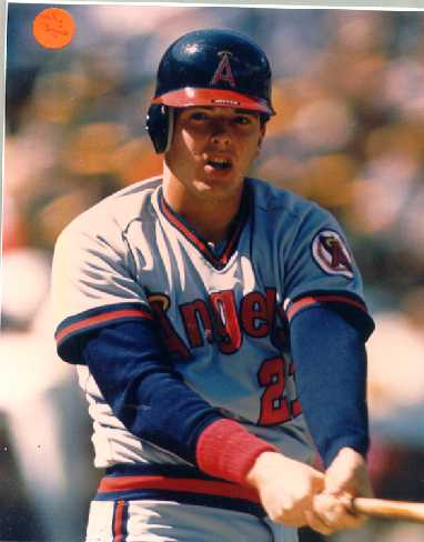 Angels Wally Joyner color photo