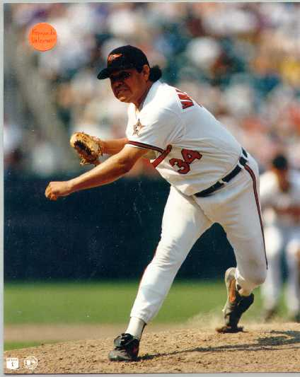 Orioles Fernando Valenzuela 8 x 10 color photo