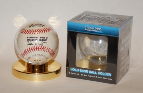 LOT OF 10 : Ultra-Pro #81152 Gold Base Baseball Holder