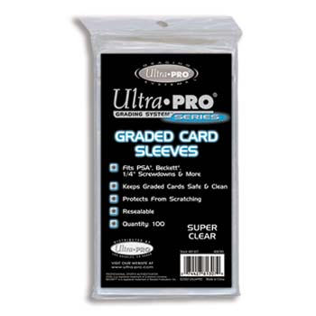 Ultra-Pro #81307  Resealable Sleeves for Graded Cards (100/bag)