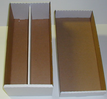 Cardboard Box #1600 Holds up to 1,600 cards or up to 400 Top loads