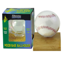 Ultra-Pro #81208  Real Wood Baseball Ball Holder (10 pcs)