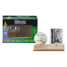 Ultra-Pro #81209  Real Wood Baseball and Card Holder