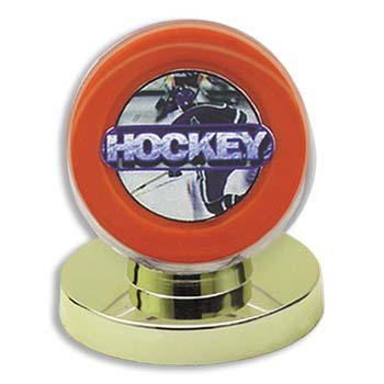 Ultra-Pro #81153  Gold Base Puck Holder