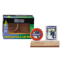 Ultra-Pro #81213  Real Wood Puck and Card Holder (lot of 10)