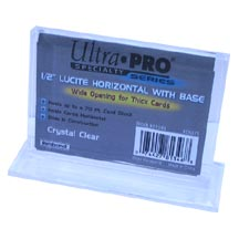 Ultra-Pro # 81346 Hor. Thick card Holder with base (Top slide-in).