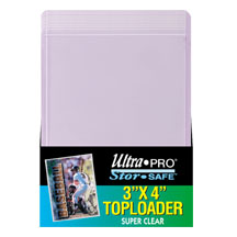Ultra-Pro #81145  3 x 4 Top Loader All Clear for Regular Cards