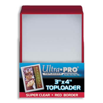 Ultra-Pro #81159  3 x 4 Top Loader Red Border for Regular Cards (25/pack)