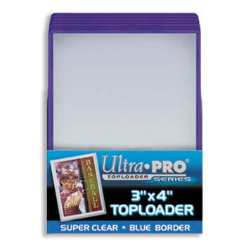 Ultra-Pro #81160  3 x 4 Top Loader Blue Border for Regular Cards (25/pack)