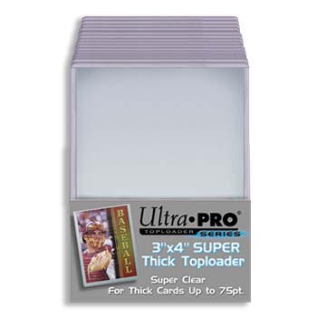 Ultra-Pro #81347  3 x 4 Top Loader All Clear for Extra Thick Cards (25/pack)