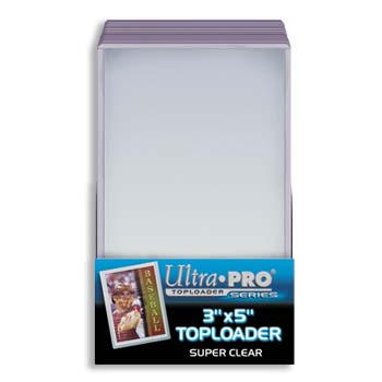 Ultra-Pro #81182  3 x 5 Top Loader All Clear for Tall 2 1/2 x 4 3/4 (25/pack)