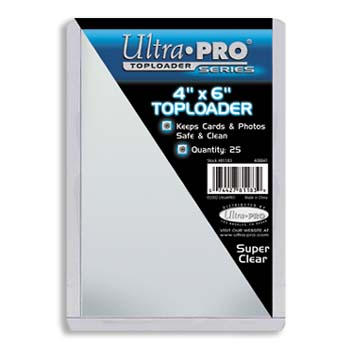Ultra-Pro #81183  4 x 6 Top Loader All Clear Card, Postcard or Photo Holder (pack of 25)