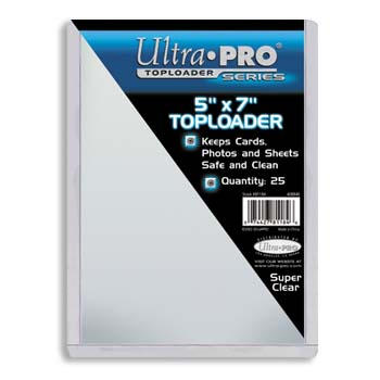 Ultra-Pro #81184  5 x 7 Top Loader All Clear Card or Photo Holder (pack of 25)