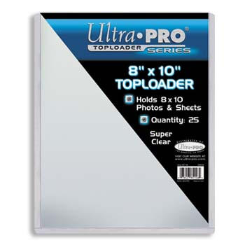 Ultra-Pro #81146  8 x 10 Top Loader All Clear Card or Photo Holder (pack of 25)