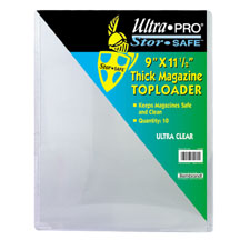 Ultra-Pro #81192  9 x 11 1/2 Top Loader All Clear Thick Magazine  (pack of 10)