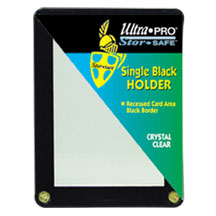 Ultra-Pro #81199  1-Card Black Frame w/Recessed Card Area (10 pcs)