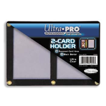 Ultra-Pro #81200  2-Card Black Frame w/Recessed Card Area