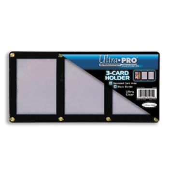Ultra-Pro #81201  3-Card Black Frame w/Recessed Card Area