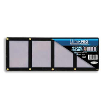 Ultra-Pro #81202  4-Card Black Frame w/Recessed Card Area