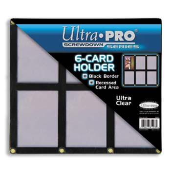 Ultra-Pro #81203  6-Card Black Frame w/Recessed Card Area