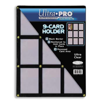 Ultra-Pro #81204  9-Card Black Frame w/Recessed Card Area