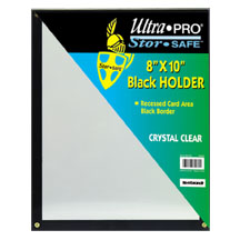 Ultra-Pro #81205  8 x 10 Black Frame w/Recessed Card Area