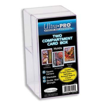 Ultra-Pro #81251  2 Case Box for Toploaders or Screwdowns