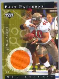 2001 UD Legends Bucs Mike Alstott game jersey